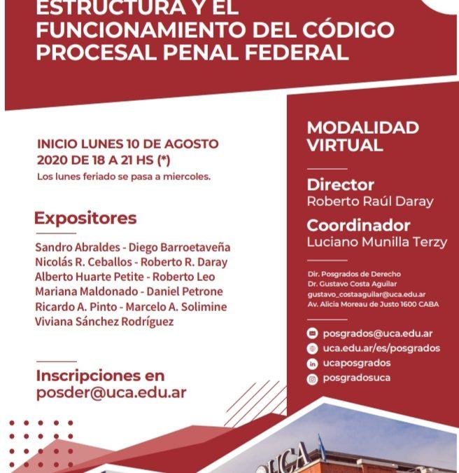 Invitación a Seminario sobre el Código Procesal Penal Federal