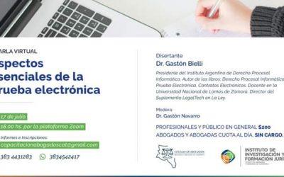 «Aspectos esenciales de la prueba electrónica»