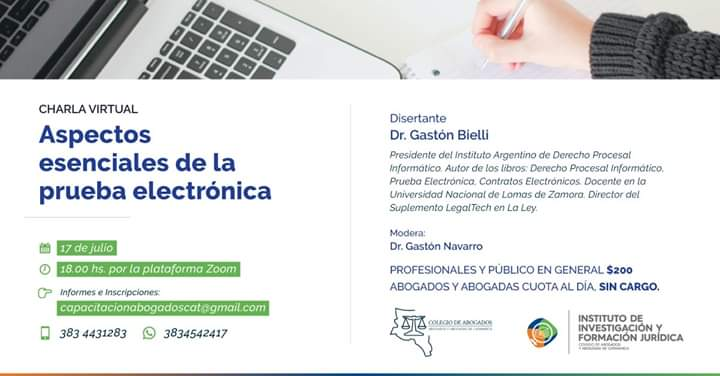 """""""Aspectos esenciales de la prueba electrónica"""""""
