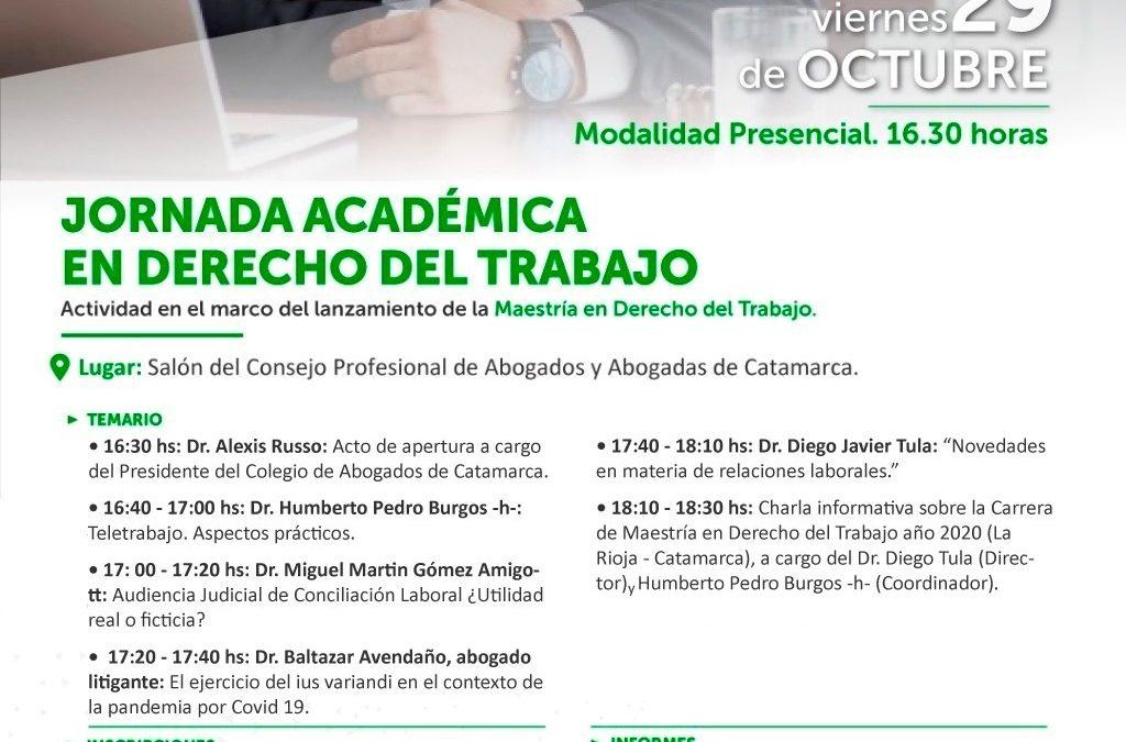 JORNADA ACADÉMICA EN DERECHO DEL TRABAJO